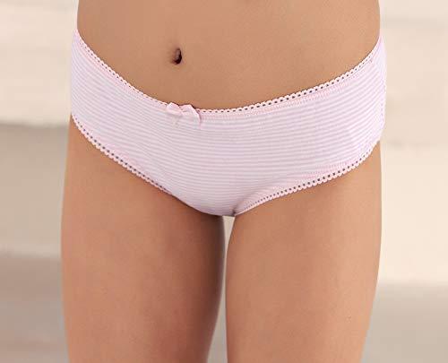 Super Soft Stripe White Panties 3 pk Cotton Brix Girls Cotton Briefs Underwear