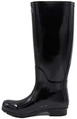 Womens Black Boot Fog London Thames Rain Shiny UqxPSFvw