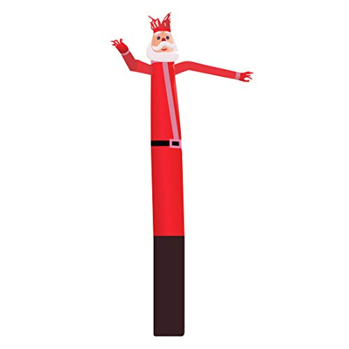 Mkevi 20ft Santa Sky Air Puppet Dancer Inflatable Arm Flailing Tube Man Wacky Wavy Wind Flying Dancing Man for DIY Stand Out Christmas Advertising No 18in Blower