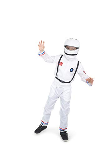 Astronaut Suit and Helmet Costume - Halloween Boy's Space Cadet, White, Small]()