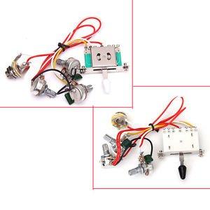 buy pro guitar wiring harness 1v2t 1jack 3 500k pots 5way  switch 500k pots jack for fender strat
