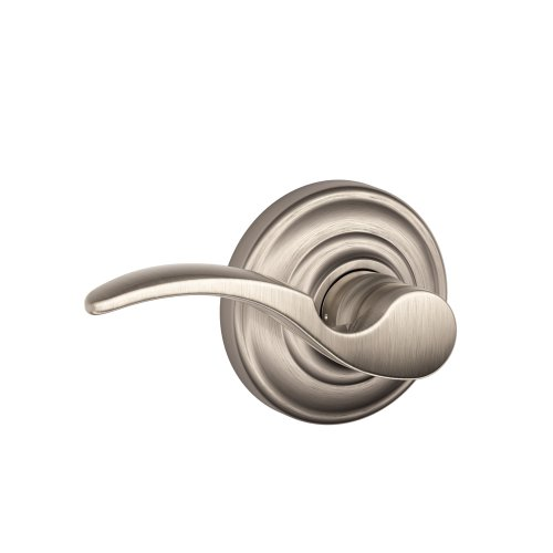 - Schlage St.Annes Passage Lever, Andover Rose, Satin Nickel - FA10STA619/F10STA619AND