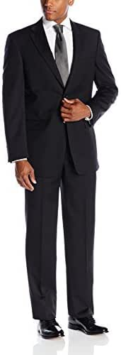 Jones New York Men's Classic Fit Black Solid Suit