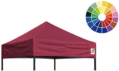 5x5,Brown Instant Ez Canopy Top Cover ONLY Eurmax New Pop Up Canopy Replacement Canopy Tent Top Cover