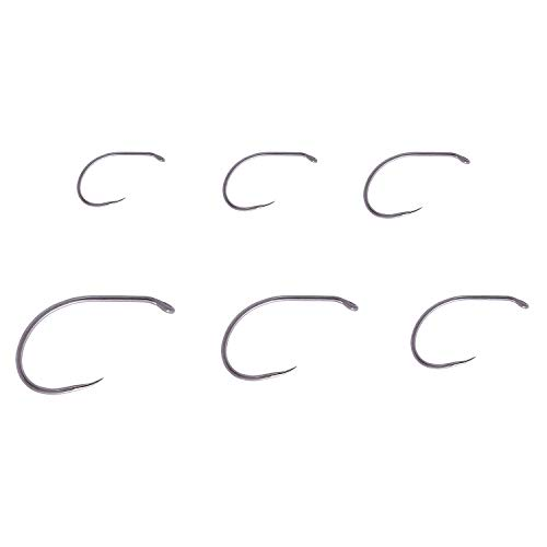 Bassdash Fly Fishing Hooks - Barbless Curved Nymph Scud Pupa Hooks/Barbless Dry Fly Hooks/Jig Hooks/Universal Dry Fly Hooks/Streamer Hooks/Wet Fly Nymph Hooks/Stinger Hooks