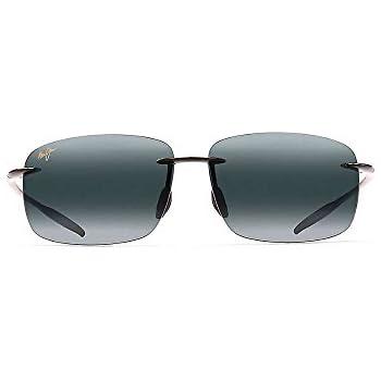 Amazon.com: Maui Jim Mens Breakwall Sunglasses (422) Black