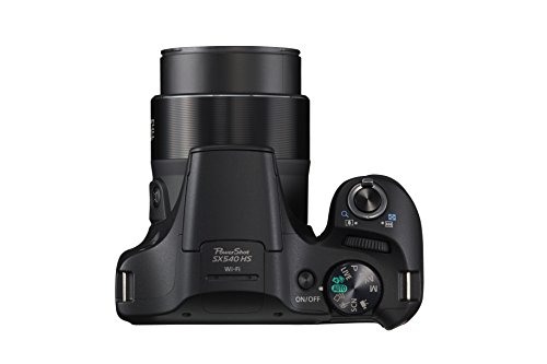 Canon PowerShot SX540 Digital Camera w/ 50x Optical Zoom - Wi-Fi & NFC Enabled (Black), 1 - 1067C001