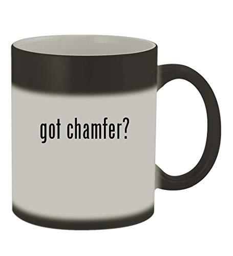 got chamfer? - 11oz Color Changing Sturdy Ceramic Coffee Cup Mug, Matte Black