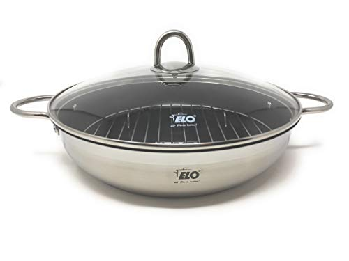 Cheap ELO Germany Platin Stainless Steel Induction Roasting Pan with Grill Insert