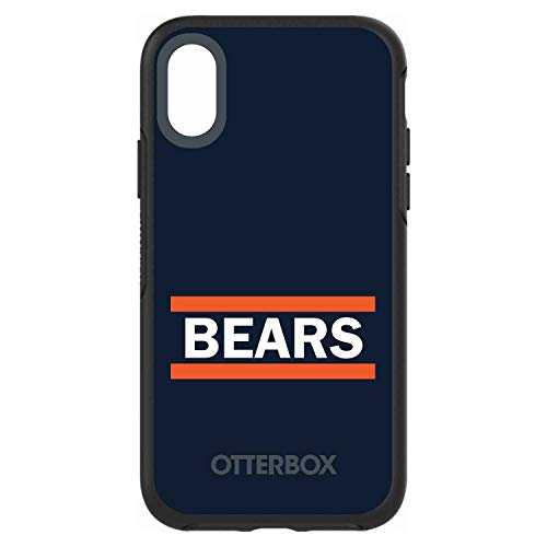 "Latest DistinctInk Case for iPhone XR (6.1"" Screen) - Custom Black OtterBox Symmetry - Orange Navy Bears - Football Team orange iphone xr case 3"