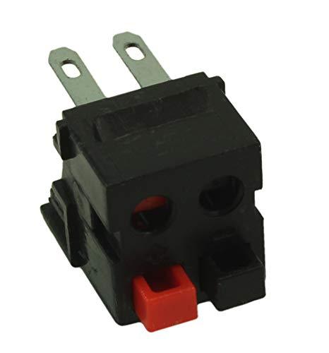 (MyCableMart Wall Plate: Keystone Jack Dual Speaker w/Rear Crimp Block 14-30AWG, Black)