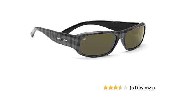 418ff39a77a8 Amazon.com: Serengeti Genova Sunglasses (Gray Plaid 555nm Polarized):  Sports & Outdoors