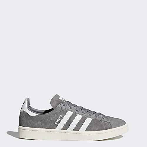 adidas  Men's Campus Sneakers, Grey /White/Chalk White, (10 M US)
