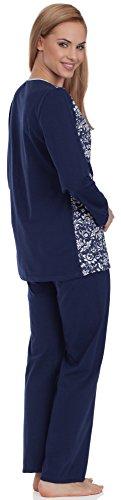 Be Mammy Mujer Pijama de Maternidad BE20-118 Azul Oscuro
