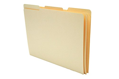 Folders Single Ply Tab - TAB Manila Folder with Single Ply Top Tab – Letter, 1/3 Cut Assorted Tab Positions, 11 pt, 100/box