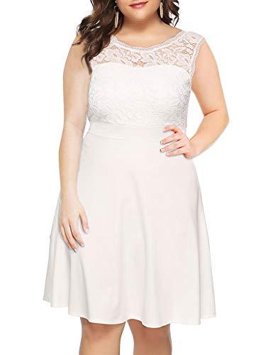 (Lace Dress for Women Party Wedding Elegant Cocktail Dresses Sleeveless Knee Length Vintage Bridesmaid Dress)