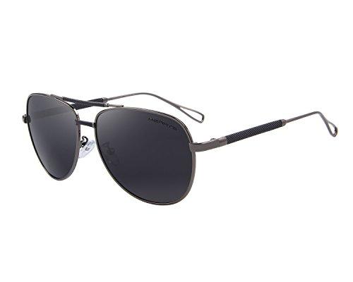 MERRY'S Men's Polarized Aviation Sunglasses Classic Driver Sun glasses S8718 (Gray, 58)