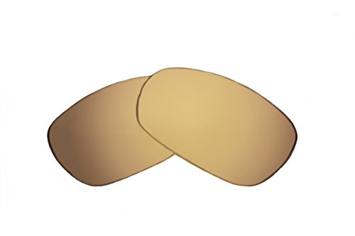 SFx Replacement Sunglass Lenses fits Oakley Gauge 8 OO4124 57mm Wide (Ultimate Gold Mirror Brown ()