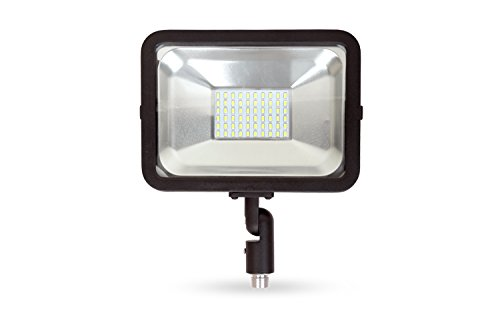 LLT LED COMPACT Floodlight with Arm SMD Outdoor Landscape Security Waterproof 30W 5000K (Daylight) by LLT