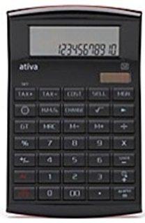 Ativa Premium Functions Executive 12-digit Calculator, Black by Ativa