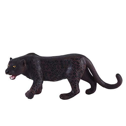 Iumer Leopard Plastic Model Imitation Animal Shape Hand Made Furnishings Toys Home Decor,Roaring Black Panther (Seller's Name 547)