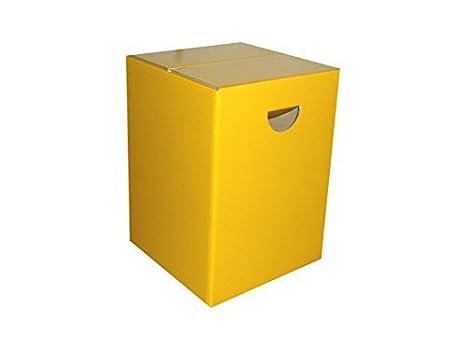 Vontek 10 x sgabello in cartone giallo fino a 200 kg hotel chiese