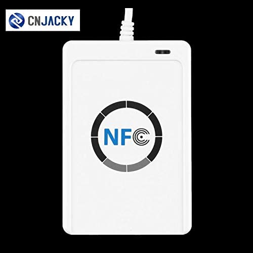 13.56MHz CNJACKY ACR122U NFC RFID Contactless Smart IC Card Reader Writer with USB Cable 5X Writable IC Card SDK