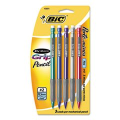 BIC Mechanical Pencil Xtra Comfort, 0.5 mm, Assorted Barrel (BICMPFGP61), 6 - Stores Texas In Plano