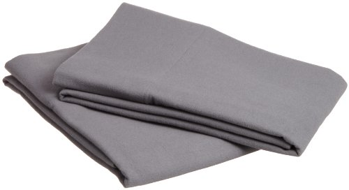 Pinzon Signature 190-Gram Cotton Heavyweight Velvet Flannel Pillowcases - Standard, Graphite