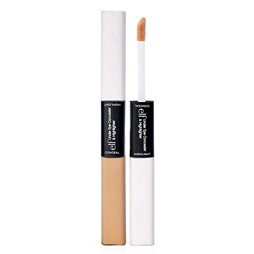 e.l.f. Under Eye Concealer and Highlighter, Glow Medium, 0.17 Ounce (L Cosmetic Bag)
