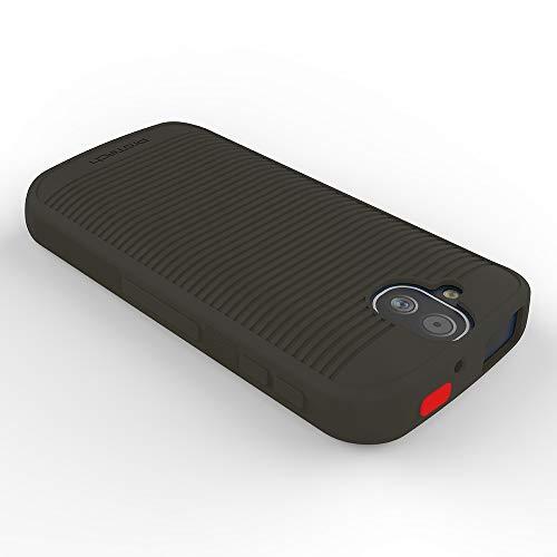 Wireless Protech Flex Skin Gel Case with Red Emergency SOS Identifier Button compatible with Kyocera DuraForce PRO E6800 Series E6810 E6820 E6830
