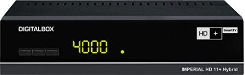 Digitalbox IMPERIAL HD 11+ Hybrid  HD+ SmartTV Satelliten-Receiver inkl. HD+ Karte für 6 Monate (HDMI, Audio-/Video Cinch, Ethernet, PVR-Ready, 2x USB 2.0, Netzschalter) schwarz