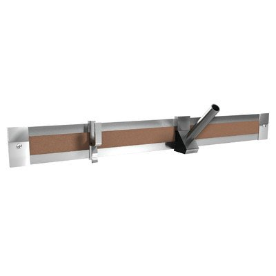 - Ghent 8-Feet Length Aluminum 2-Inch Maprail with Cork Insert, 1 per Carton (MRH8-1)