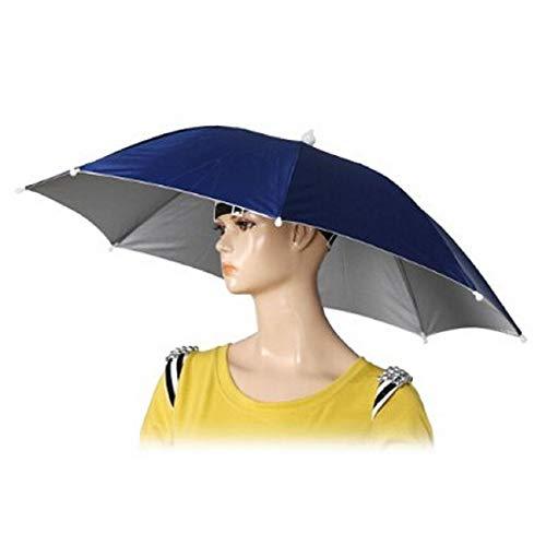 Chapeau parapluie avec serre-tête élastique pour la pêche, le jardinage, la marche, la photographie - 66cm de diamètre - Tiswell 1