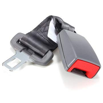 Car Seat Belt Fixed Extension Steel Heat Treatment Plastic Polyester Silk Lock - Auto Parts Other Tools - (Gray)