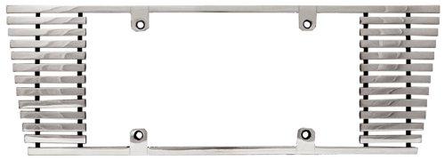 CWL-832C 8mm Polished Aluminum Billet Sloped Edge License Plate Frame IPCW