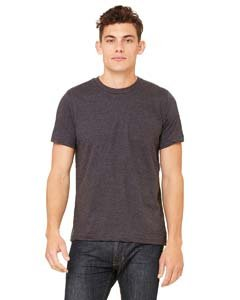 - Bella + Canvas Unisex Made In The Usa Jersey Short Sleeve Tee (Dark Grey Heather) (L)