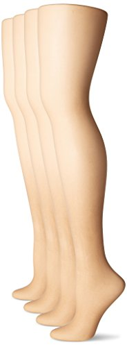 Panty Pantyhose - L'eggs Women's Everyday Regular Panty Hose, Nude, Q (4 Pair)