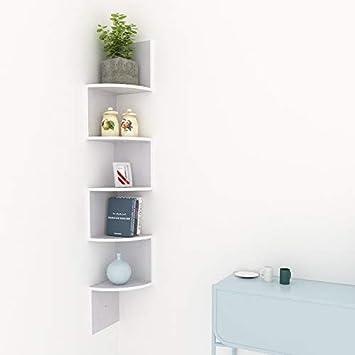 acecoree moderna decoración Estantería de esquina para colgar, estante de pared estante estantería esquinera Madera Estante de pared estante ...
