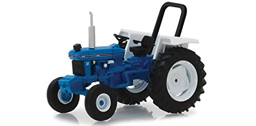 (1982 Ford 5610 Tractor Blue and White Down on The Farm Series 1 1/64 Diecast Model by Greenlight 48010 C)