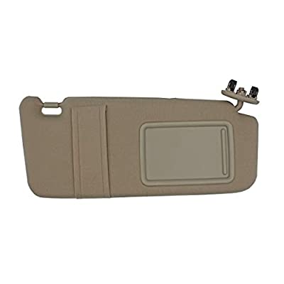 State Warehouse Right Passenger Side Sun Visor Fit for 2007 2008 2009 2010 2011 Toyota Camry and Camry Hybrid Without Sunroof and Light -(Beige): Automotive