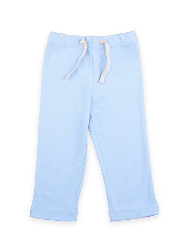 Colored Organics Baby Organic Yoga Pants 12-18 Months Light Blue