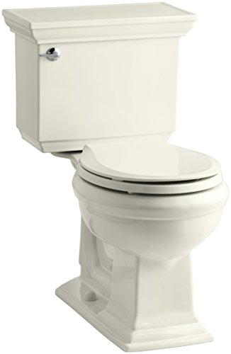 Kohler K-3933-96 Memoirs Comfort Height Two-Piece Round Front Toilet with Stately Design, Biscuit