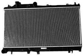 TYC 13091 Subaru Impreza 1-Row Plastic Aluminum Replacement Radiator