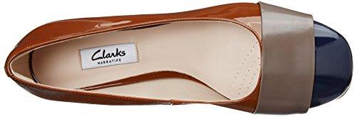 Clarks Chinaberry Sky - Zapatos de Cordones de cuero Mujer Marrón (Cognac)