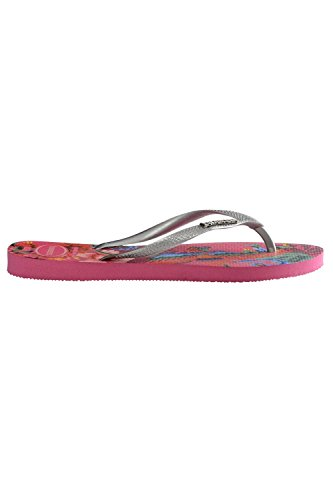 Rose Logo Orchid Slim Flip tropical up Flop Pop Havaianas Bleu 58H0R