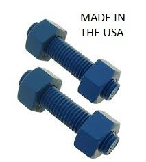 ASTM A193 B7 Stud And Nut Kit - 3/4-10 X 6 1/2 B7 Stud W/2 A194 2H Nuts Blue Teflon - (QTY Of 40 Per Kit) by TORQUE,LLC