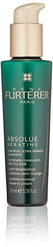Rene Furterer ABSOLUE KERATINE Sublime Renewal Leave-in Cream, Over-Processed, Extremely Damaged Hair, 3.3 oz.