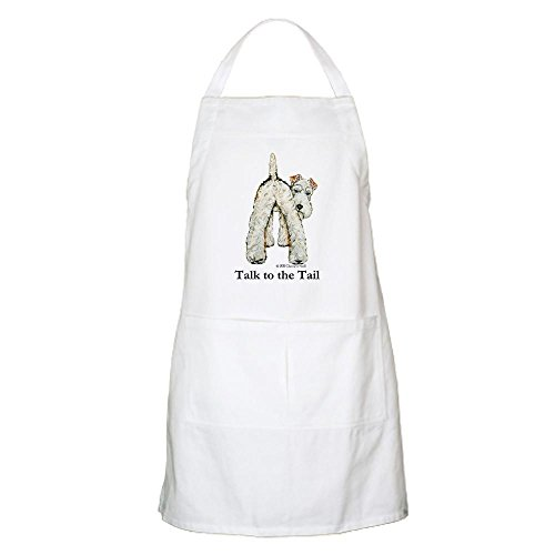 CafePress Wire Fox Terrier Tail WFT Apron Kitchen Apron with Pockets, Grilling Apron, Baking Apron