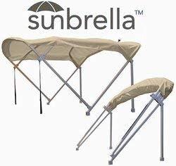 Sunbrella 8フィート x 10交換用ポンツーンビミニトップとブーツ(リネン)